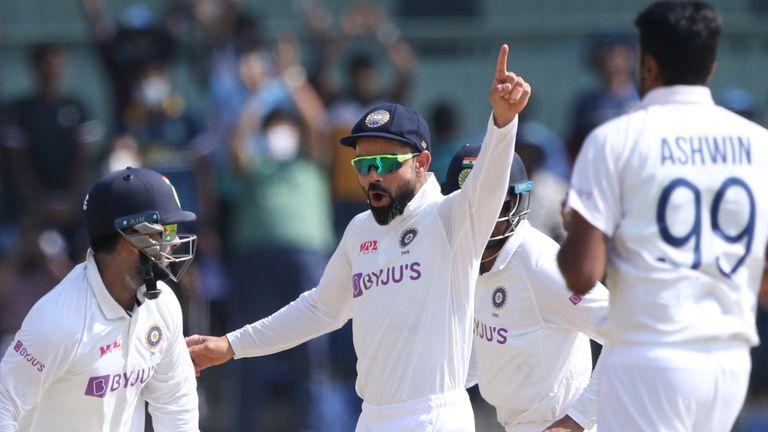 INDIA WINS ENGLAND BY 317 RUNS