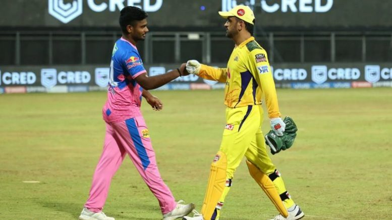 Chennai super kings beat Rajasthan royals by 45 runs to move to second spot