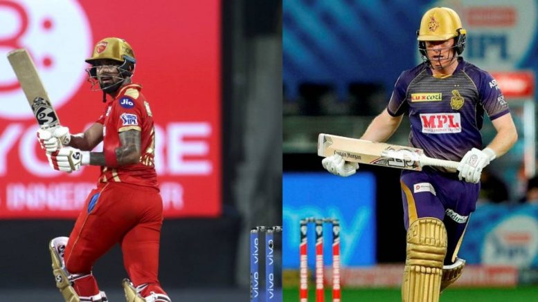 Eoin Morgan leads KKR-run chase after Tripathi, Russell fall