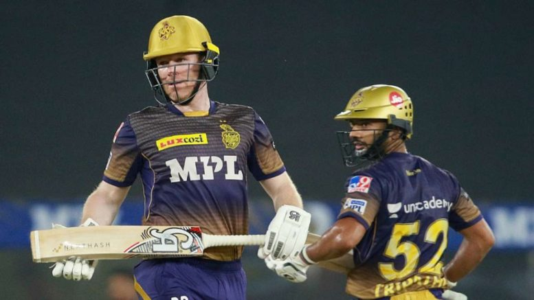 Eoin Morgan leads-KKR run chase after Tripathi, Russell fall