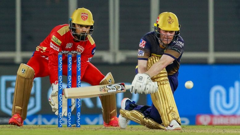Eoin Morgan leads KKR run chase after Tripathi, Russell fall